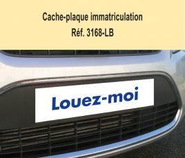 """Cache-Plaque d'Immatriculation """"Louez-moi"""""""