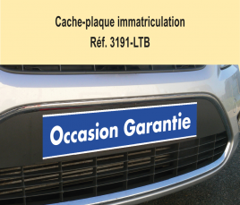 "Cache-Plaque d'Immatriculation ""Occasion Garantie"""