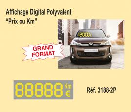 "Affichage Digital Polyvalent ""Prix ou KM"""