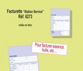 Facturette Station Service (Lot de 10 blocs de 100)