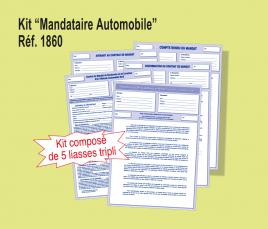 """Kit """"Mandataire Automobile"""" (Lot de 5 kits)"""