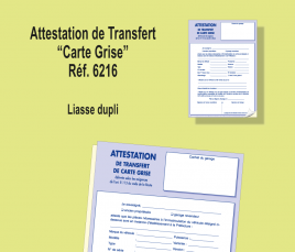 Attestation Transfert Carte Grise