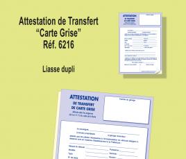 Attestation de Transfert de Carte Grise