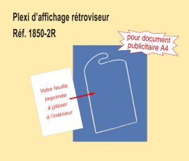 Plexi d'Affichage Rétroviseur rigide