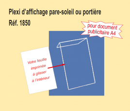 Plexi d'Affichage Pare-Soleil rigide