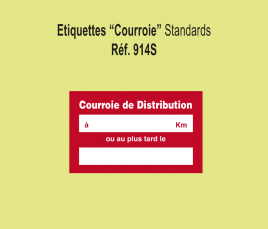 "Etiquette ""Courroie de Distribution"""