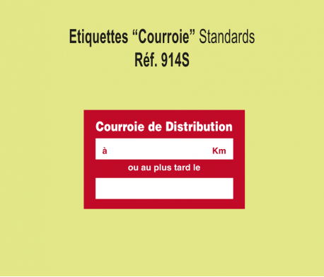 Etiquette Courroie de Distribution