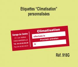 Etiquette Climatisation personnalisée