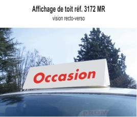 """Affichage de Toit """"Occasion"""" standard"""