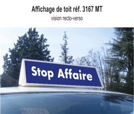 """Affichage de Toit """"Stop Affaire"""" standard"""