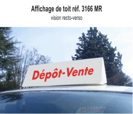 """Affichage de Toit """"Dépôt Vente"""" standard"""