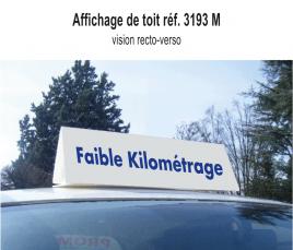"""Affichage de Toit """"Faible Kilométrage"""" standard"""