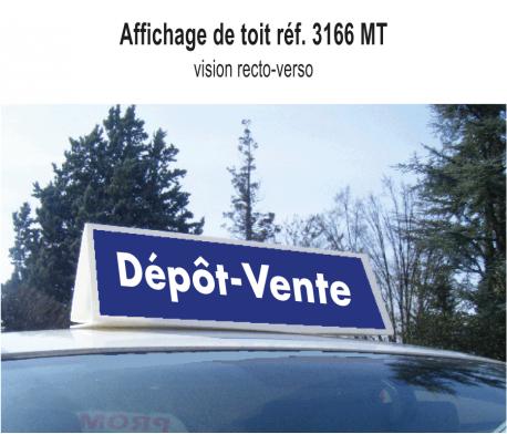 Affichage Toit Dépôt Vente