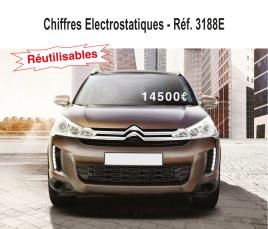 Affichage Prix Chiffres Electrostatiques