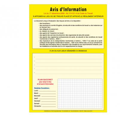 Affichage Evaluations des Risques