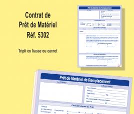 contrat de prêt de matériel