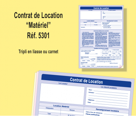 contrat de location de matériel