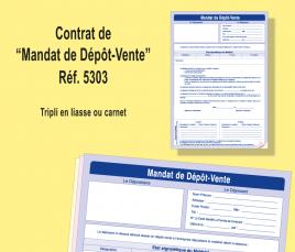 contrat de dépôt vente de matériel