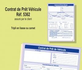 contrat de prêt de véhicule