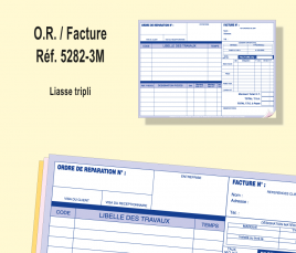 Ordre de Réparation/ Facture Tripli