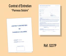 Contrat Entretien Panneaux Solaires