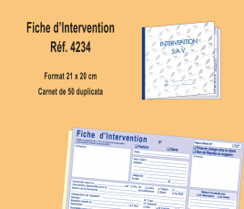 fiche d'intervention légale