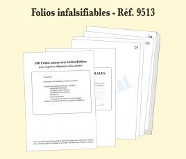 folios infalsifiables registre 4 anneaux