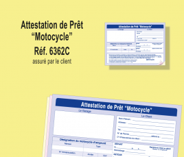 Attestation de prêt de motocycle