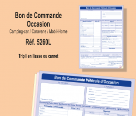 Bon de Commande Occasion - Camping-Car / Caravane / Mobil-Home