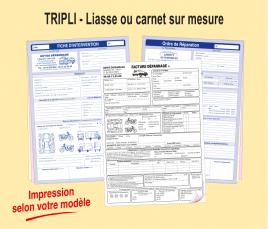 Tripli : Liasse ou Carnet sur-mesure