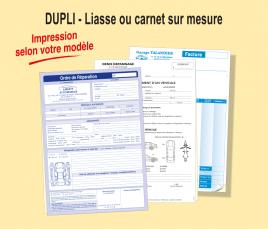 Dupli : Impression Liasse ou Carnet sur-mesure