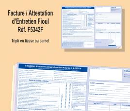 Facture / Attestation d'Entretien Fioul