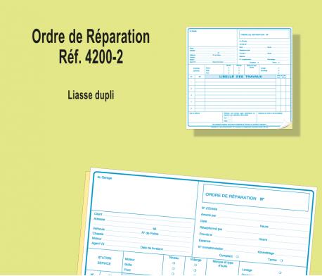 Ordre de Réparation Dupli